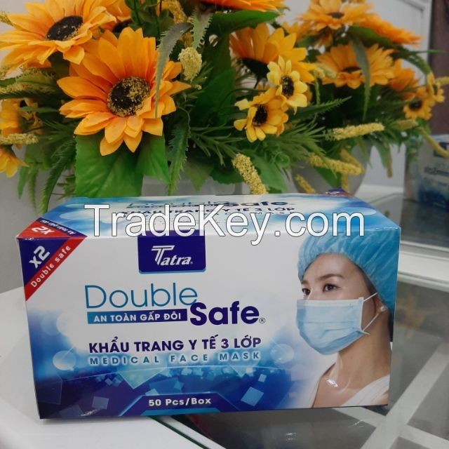 Made In Vietnam 3 ply Disposable Medical Surgical Face Mask CE Certified