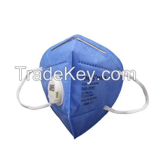 AN95 respirator mask 5 ply (valve, blue) CE Certified Made in Vietnam KN95