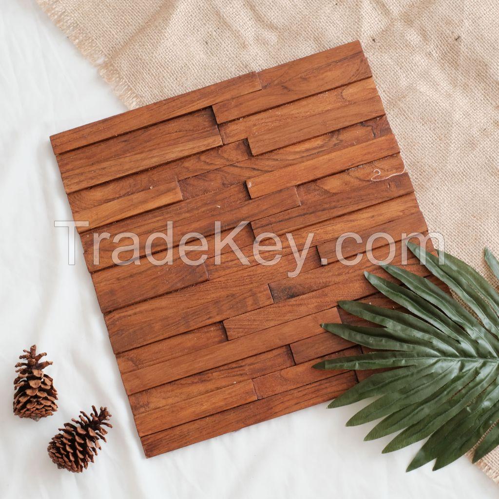 Teak Wooden Mosaic