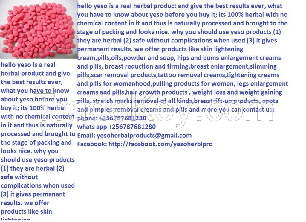 Yeso herbal skin lightening cream and pills call/whats app +256787681280