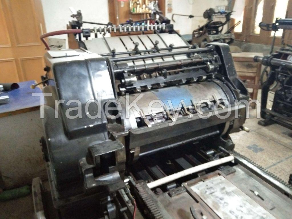 Original Heidelberg Cylinder 38x52 Printing Machine  Model S 1959