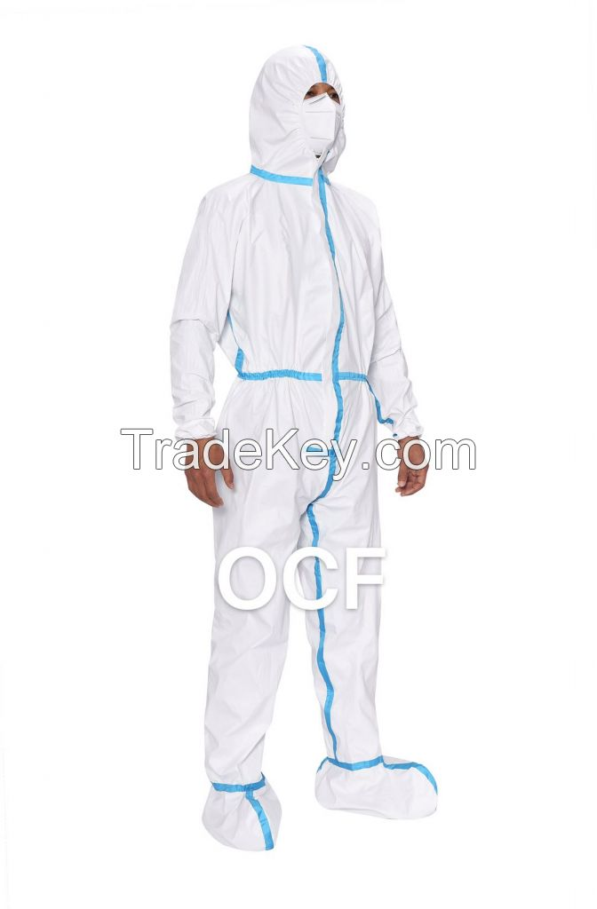 One-piece Disposable Protective Coverall