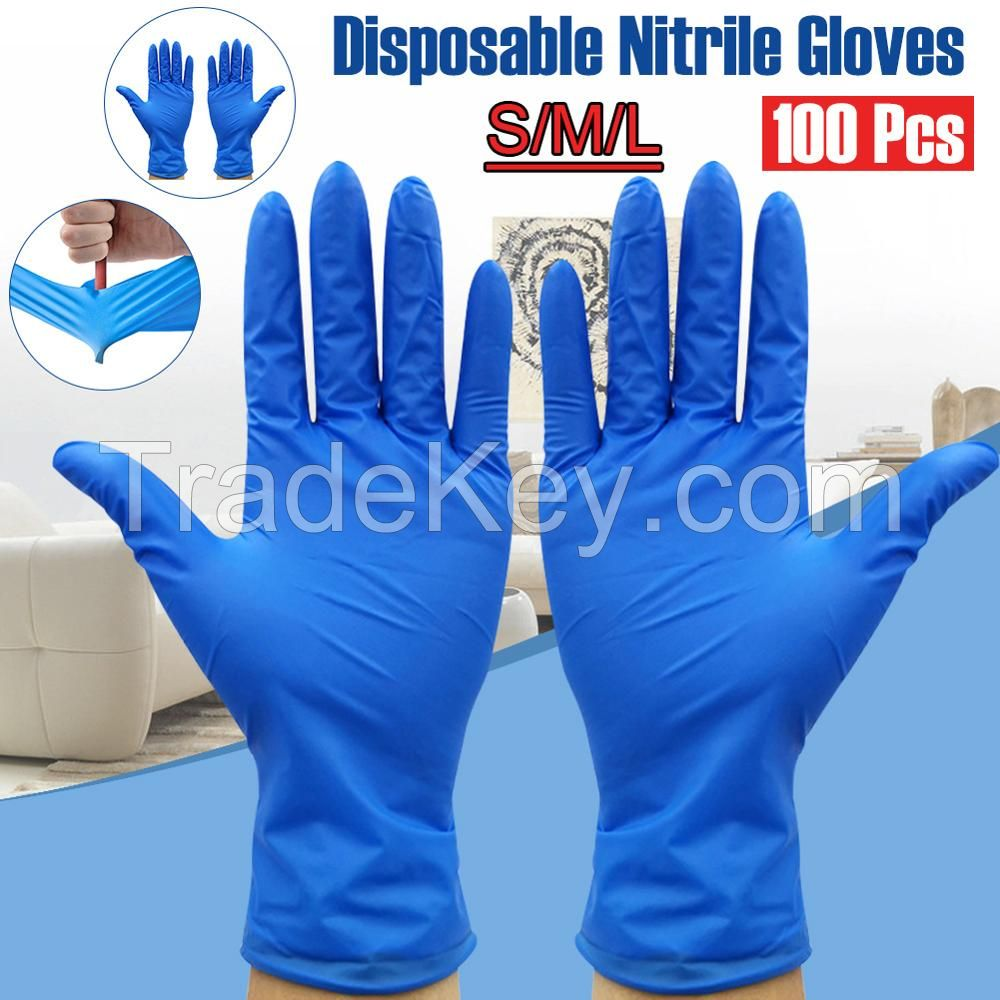Wholesales of Disposable Rubber Nitrile Protective Gloves