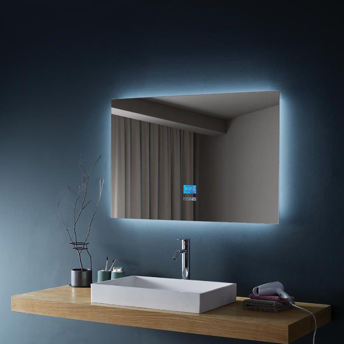 Hot sell popular China factory hotel backlit mirror bathroom illuminated led mirror
