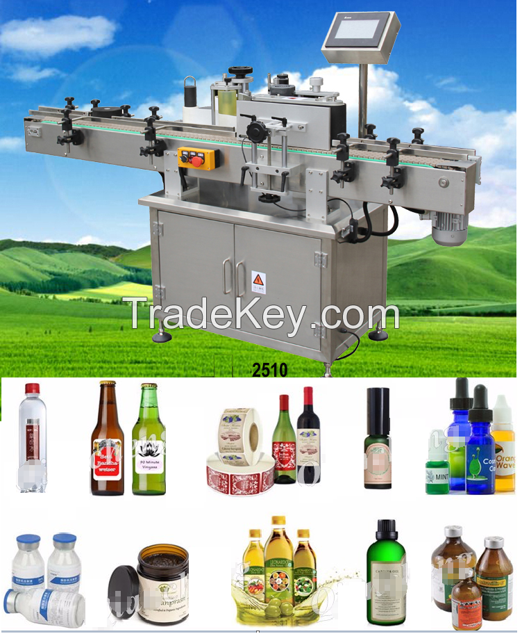 Vertical Round Bottle sticker Labeling Machine