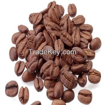 Roasted arabica green coffee beans