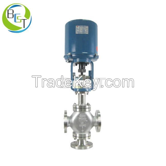 3 Way Electric Actuated Control Valve