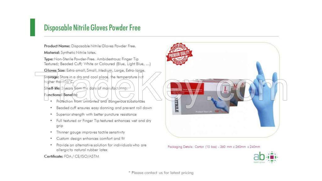 High Quality Nitrile Gloves Powder Free