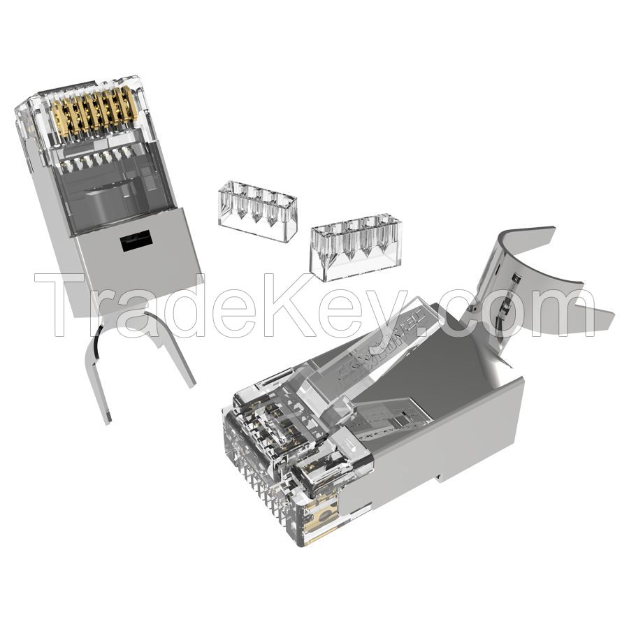 Category 7 Shielded RJ45 Connector For Larger Cable