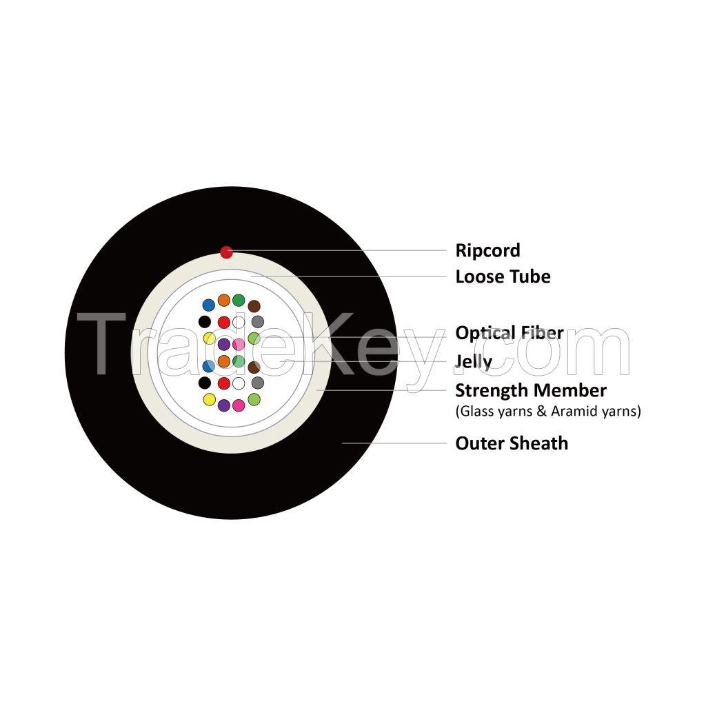 Outdoor Fiber Optic Cable 4-24 Cores SM G657A