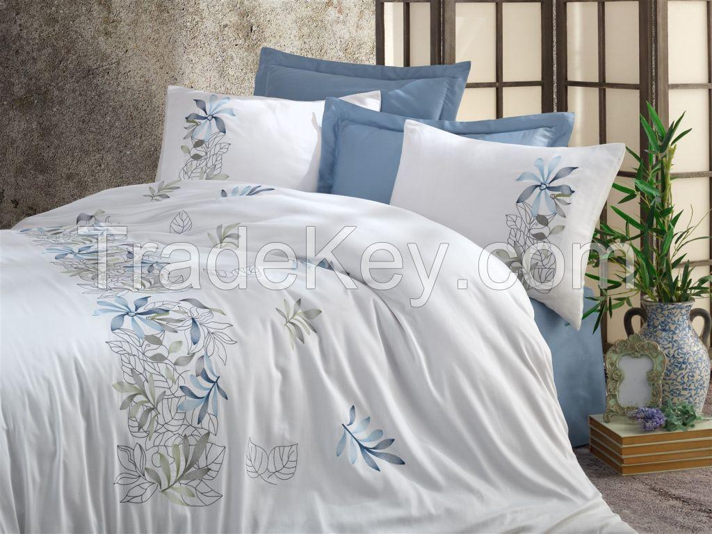 Cotton Satin Duvet Cover Set