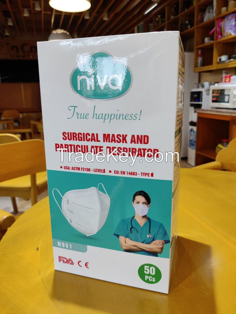 SURGICAL 3D-N95 NIVA MASK AND RESPIRATOR - Made in Vietnam