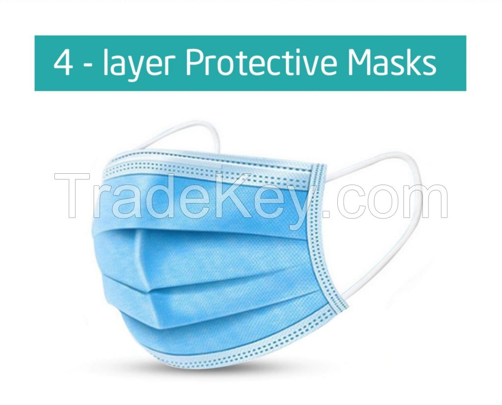 Medical Disposable 4-ply face mask From Vietnam