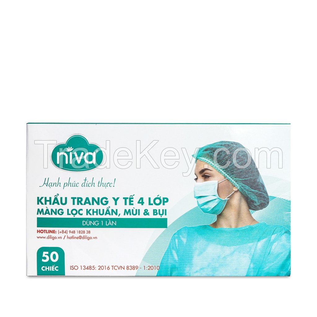 3 Ply Earloop Disposable Niva Face Mask (diligo Holdings) - Made in Vietnam