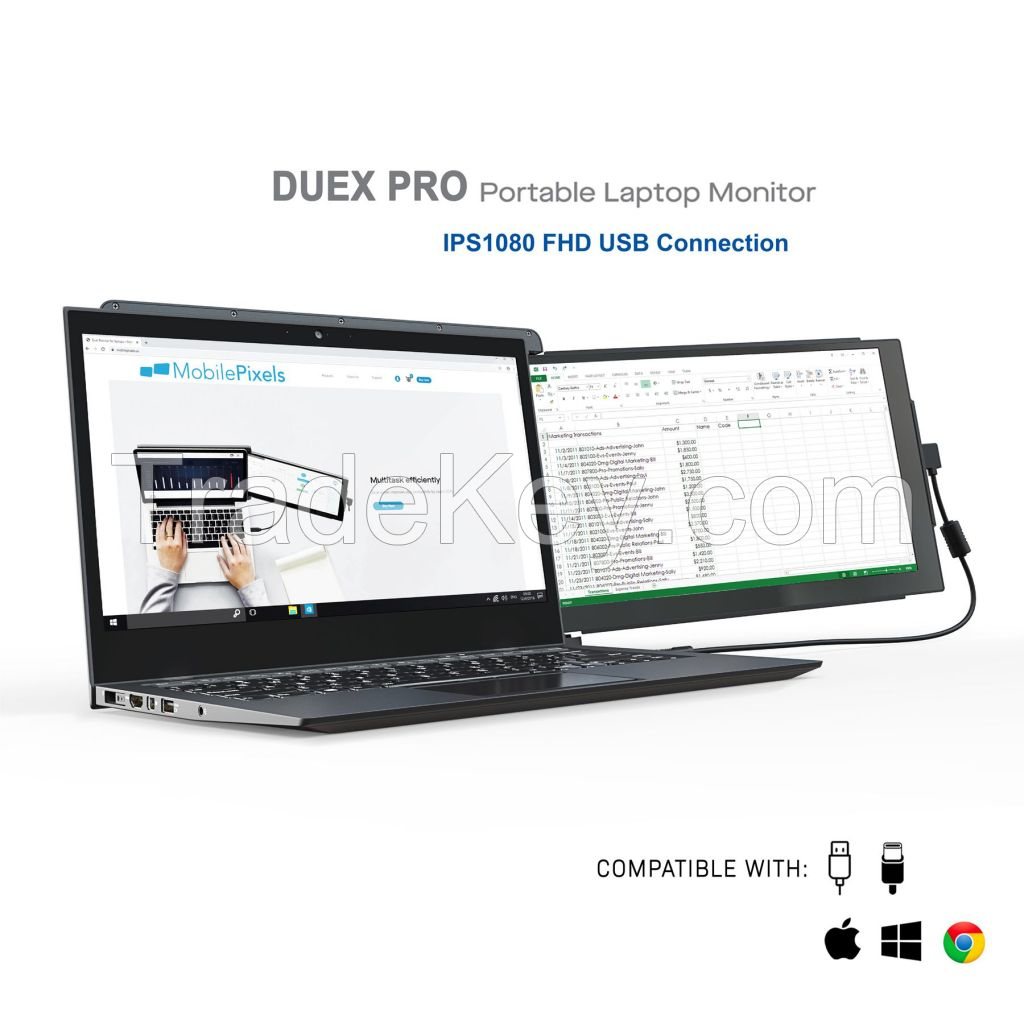 DUEX Pro Portable Monitors : The on-the-go dual screen laptop monitor.
