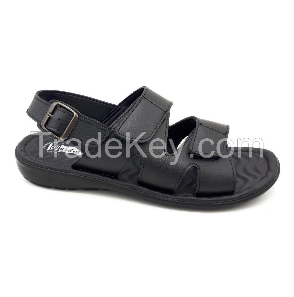 2303 men sandals.black.imitation leather.