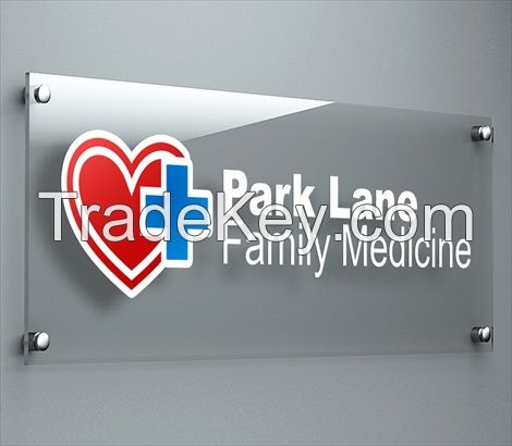 Factory Wholesale Custom Transparent Acrylic Sign Boards