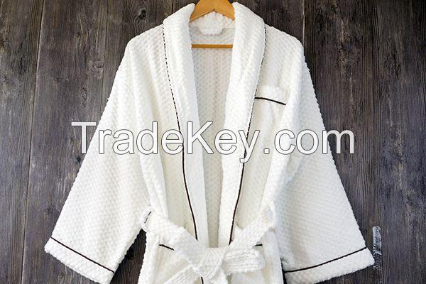China Supplier 100% Cotton Jacquard Weave Terry Bathrobe