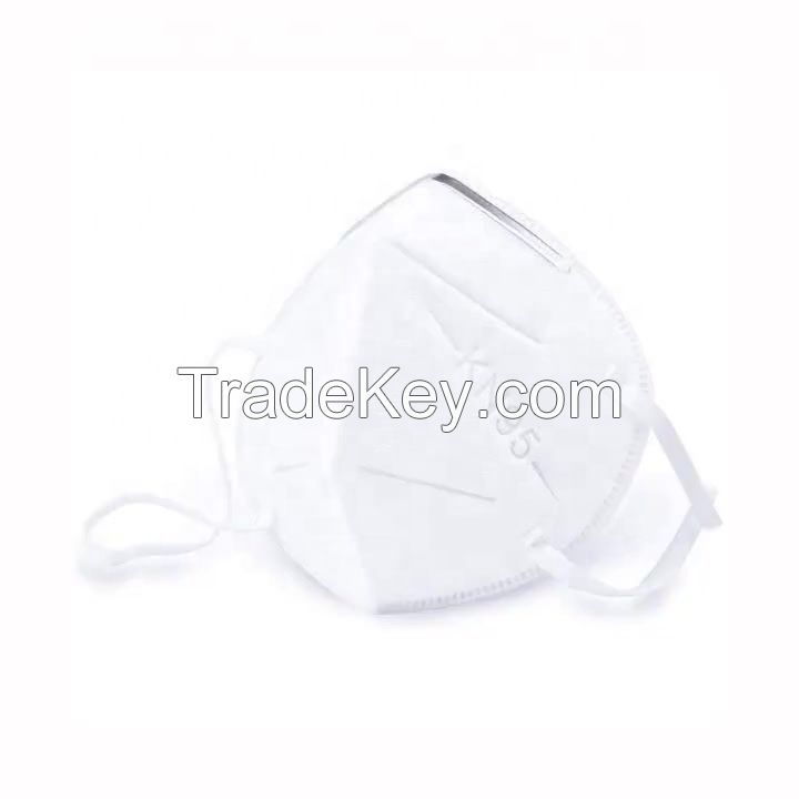 2020 Disposable Nonwoven KN95 Folding Half 5-ply Face Mask for Self Use