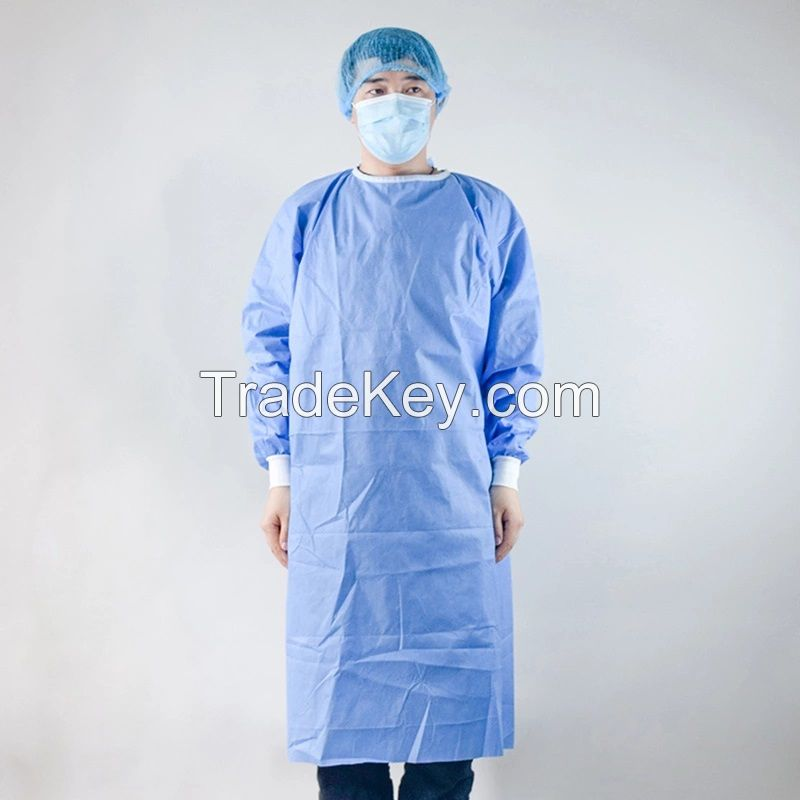 Disposable Medical Protective Isolation Coverall  Single-Use SMS Isolation Gown