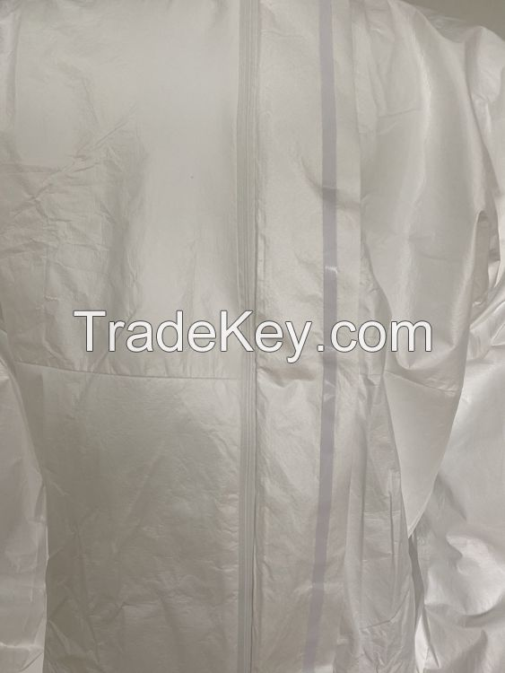 Wholesale Disposable Non-woven full-body anti-static hooded overalls protective clothing