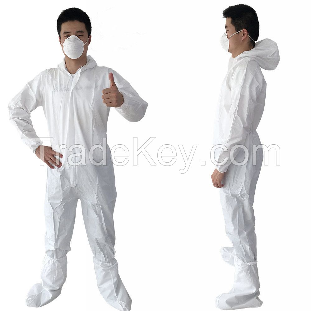 Wholesale overall suit Chemical hazard protection coverall HazMat Suits protection hazmat suit