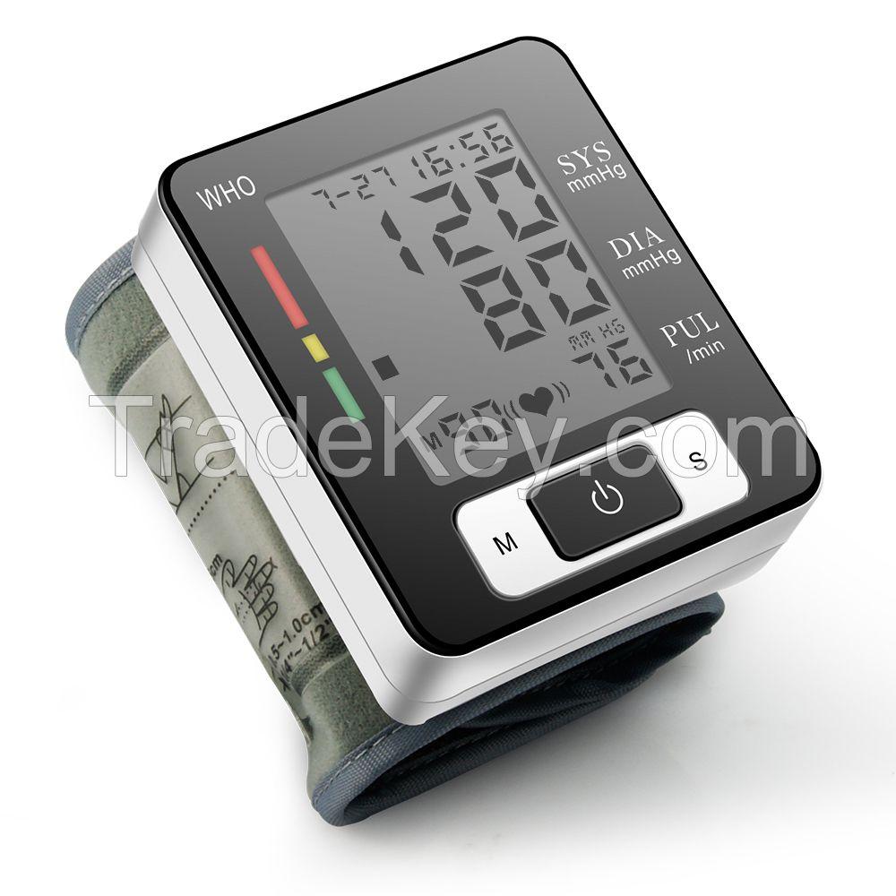 Smart electronic digital Wrist blood pressure Monitor Cuff Pulse Portable Tonometer Heart Rate