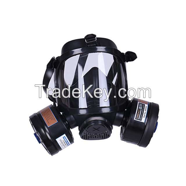 EN136 Standard Chemical Full Face Military Gas Mask with Single Activated Carbon Filter