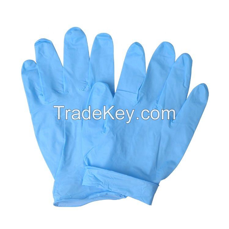 Disposable Examination Gloves Blue Nitrile Powder Free Examination Gloves