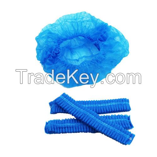 Disposable Non-Woven Surgical Bouffant Cap Clip Cap Elastic Disposable Elastic Disposable Hair Cap