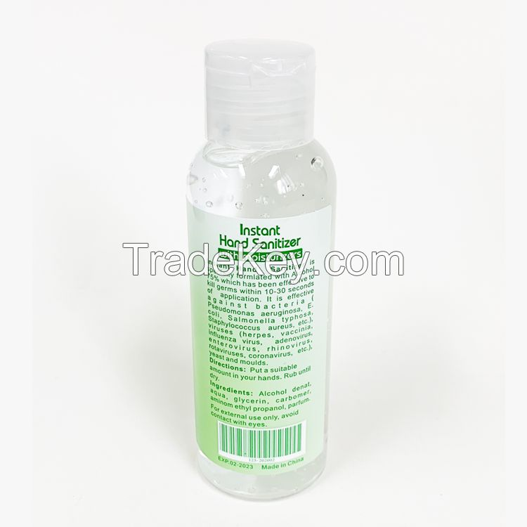 OEM alcohol hand sanitizer best price 100ml/3.53oz Instant hand sanitizer