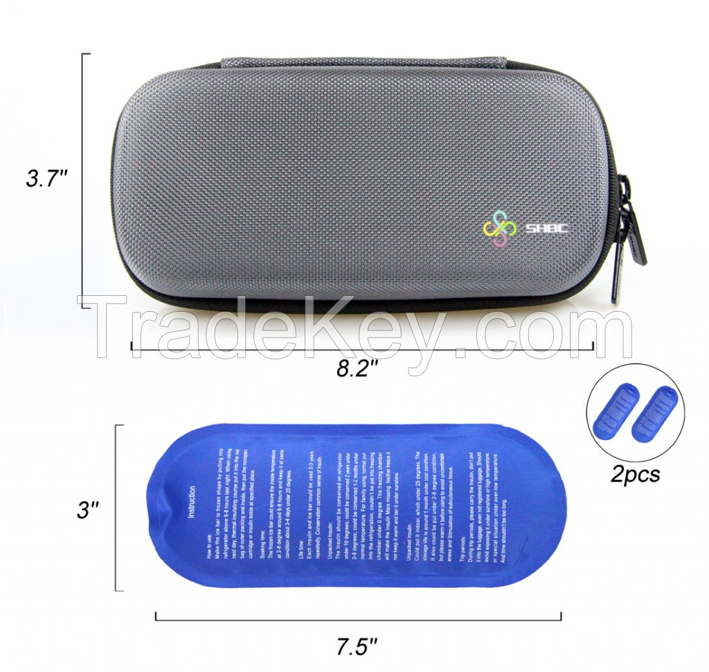 Insulin carry case for travel or custom insulin cooling case
