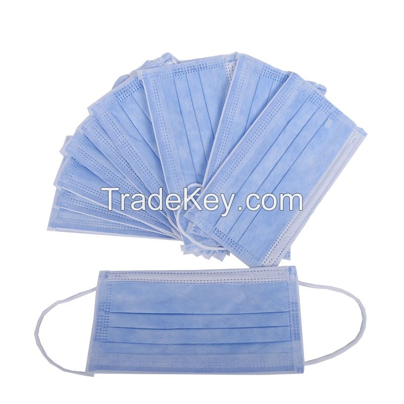 3 Ply ear loop face mask, disposable Medical surgical face mask