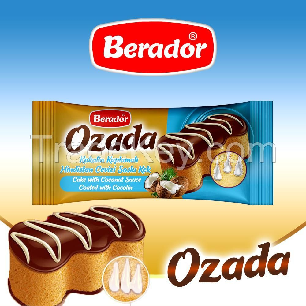 Ozada Cake With Coconut Sauce Coated With Cocolin