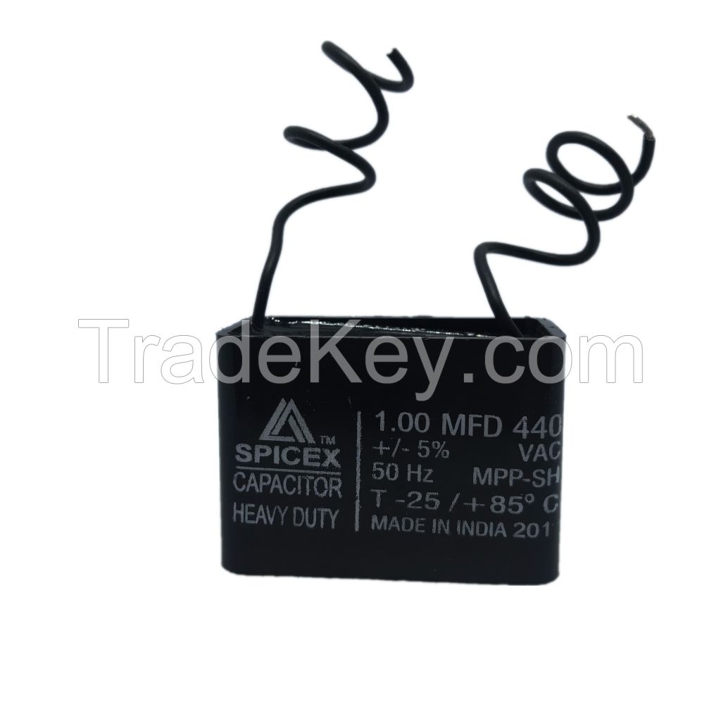 1 MFD -440v Box Type Wall Fan Capacitors