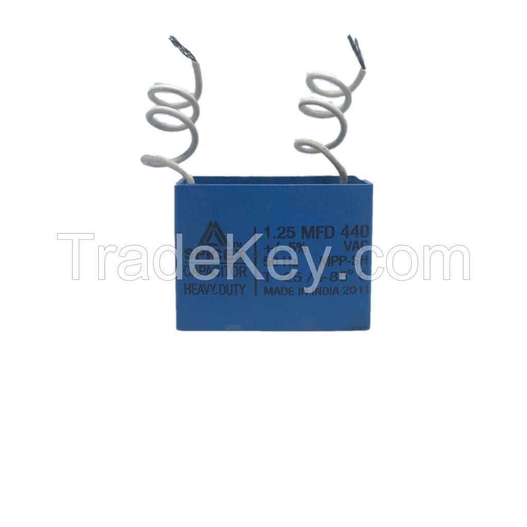 1.25 MFD -440v Box Type Wall Fan Capacitors