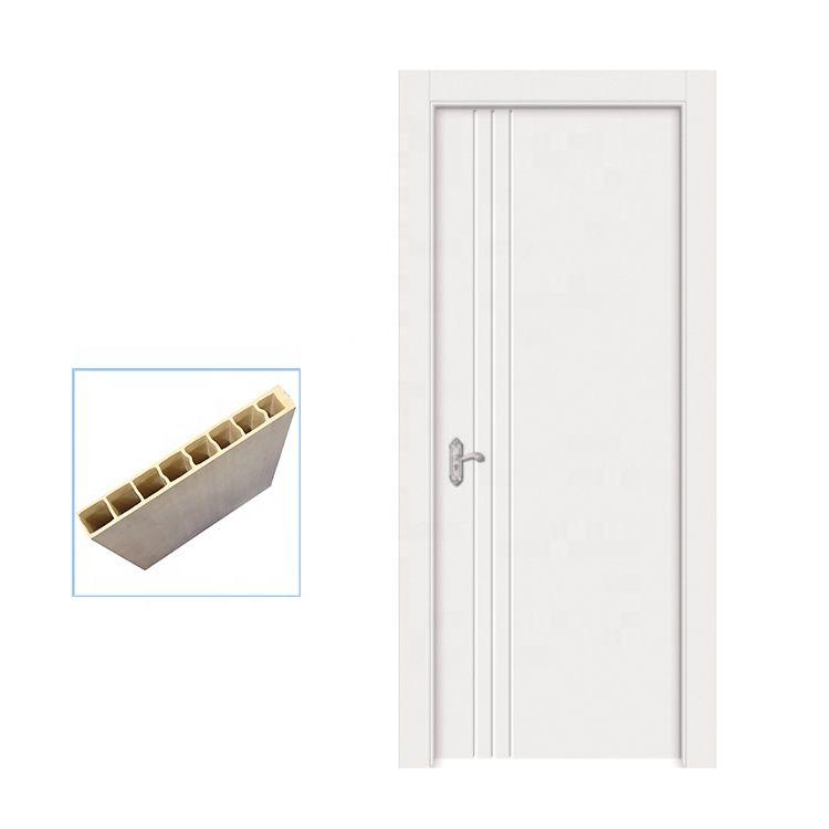 100% waterproof painting WPC modern internal doors with WPC door frame