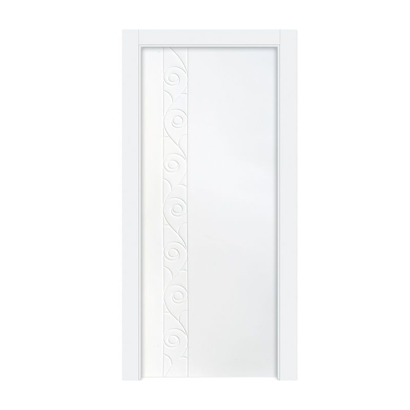Yingkang E0 standard qualified Swing Single leaf interior PVC door paint wpc door for Villa with cheap price