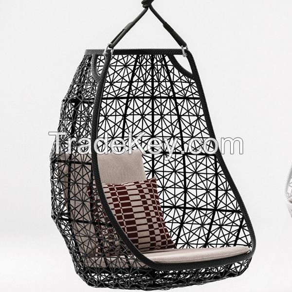 Arvabil Handmade Wicker Jannat Egg Swing for Home and Garden, Prime Design