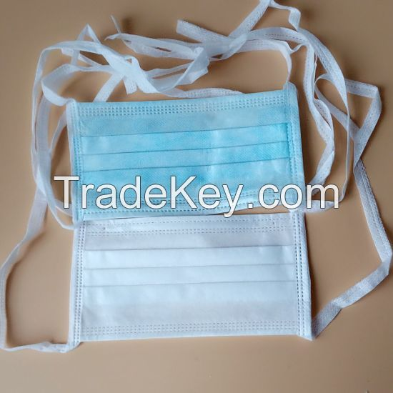 2 and 3 Ply Surgical Tie On Mask ( Non Elastic )