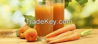 Highly premium natural carrot peach apple juice