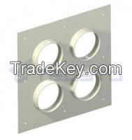 Aluminum Entry Panels with 4'' Ports Aluminum Entry Panel 2x2