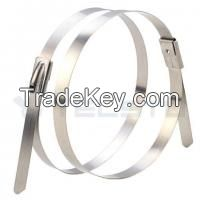 Stainless steel cable tie cable accessories self-locking ball-locking steel cable tie