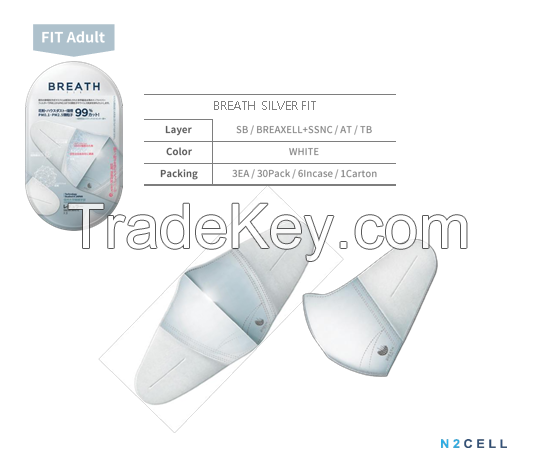Breath Silver Mask - Fit Adult