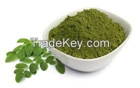 Clean dried moringa leaf powder
