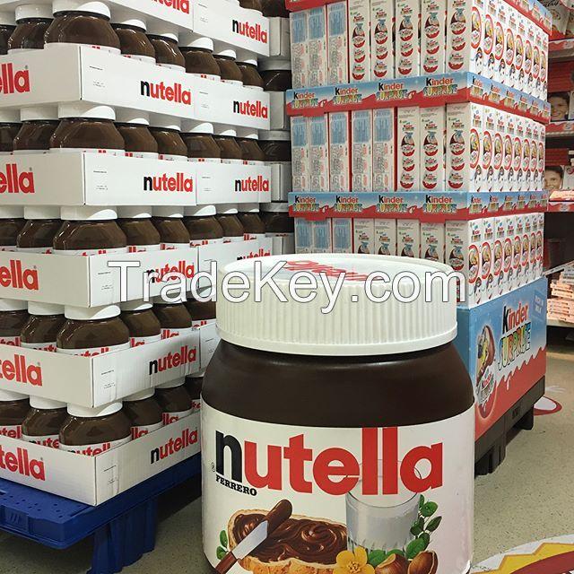 Ferrero Nutella Chocolate Spread in jars 350g, 400g, 600g, 750, 800gr, 1kg and 5kg.