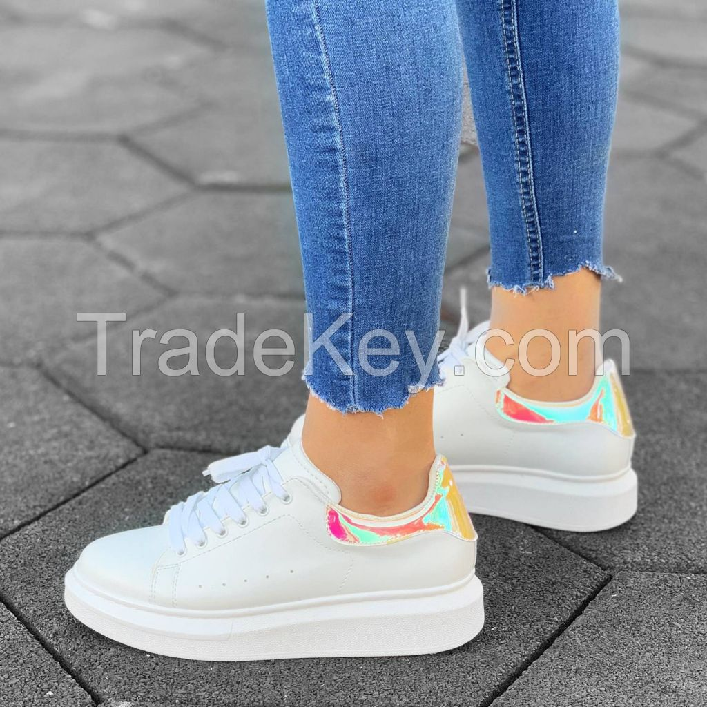 Women High Sole Sneakers Hologram