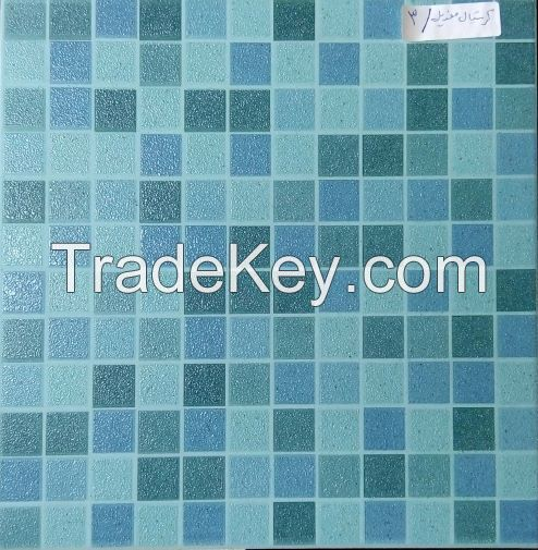 Mosaic swimming pool tiles