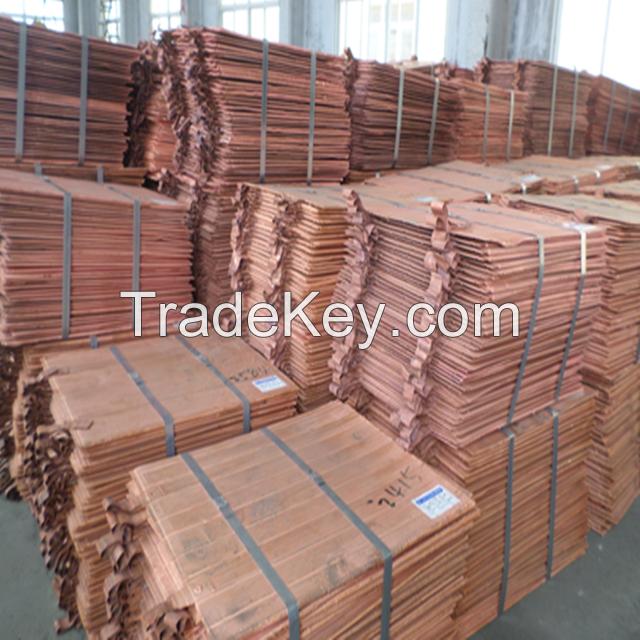 100% high quality copper Cathode