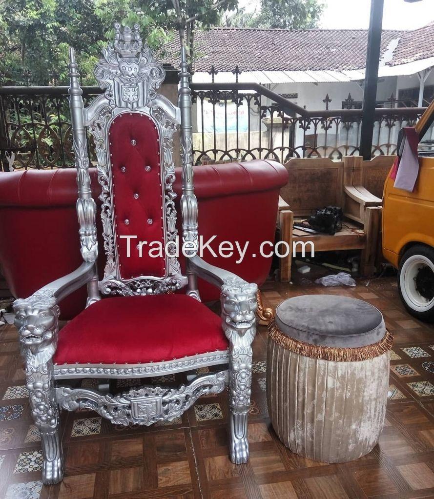 Throne Chair Mahogany Wood